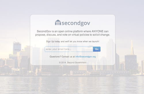 SecondGov homepage