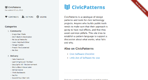 CivicPatterns.org homepage