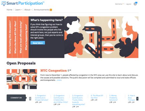 SmartParticipation NYC Congestion
